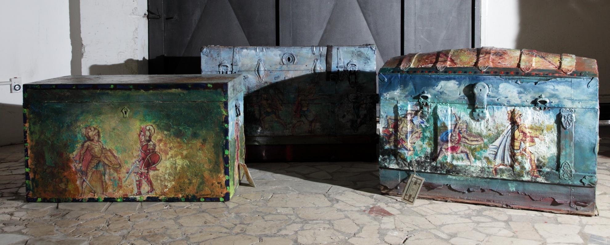 L 39 opera dei pupi nell 39 arredamento moderno teypat for Arte nell arredo