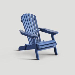 Poltrona in legno blu DB004688