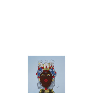 Quadro testa di moro colore celeste