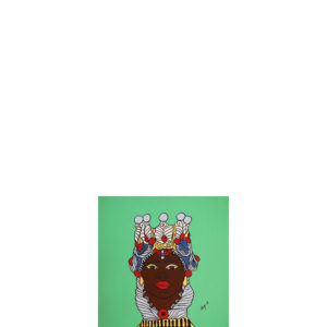 Quadro testa di moro colore verde