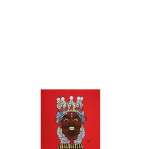 Quadro testa di moro colore rosso