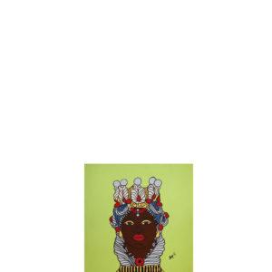 Quadro testa di moro colore verde pistacchio