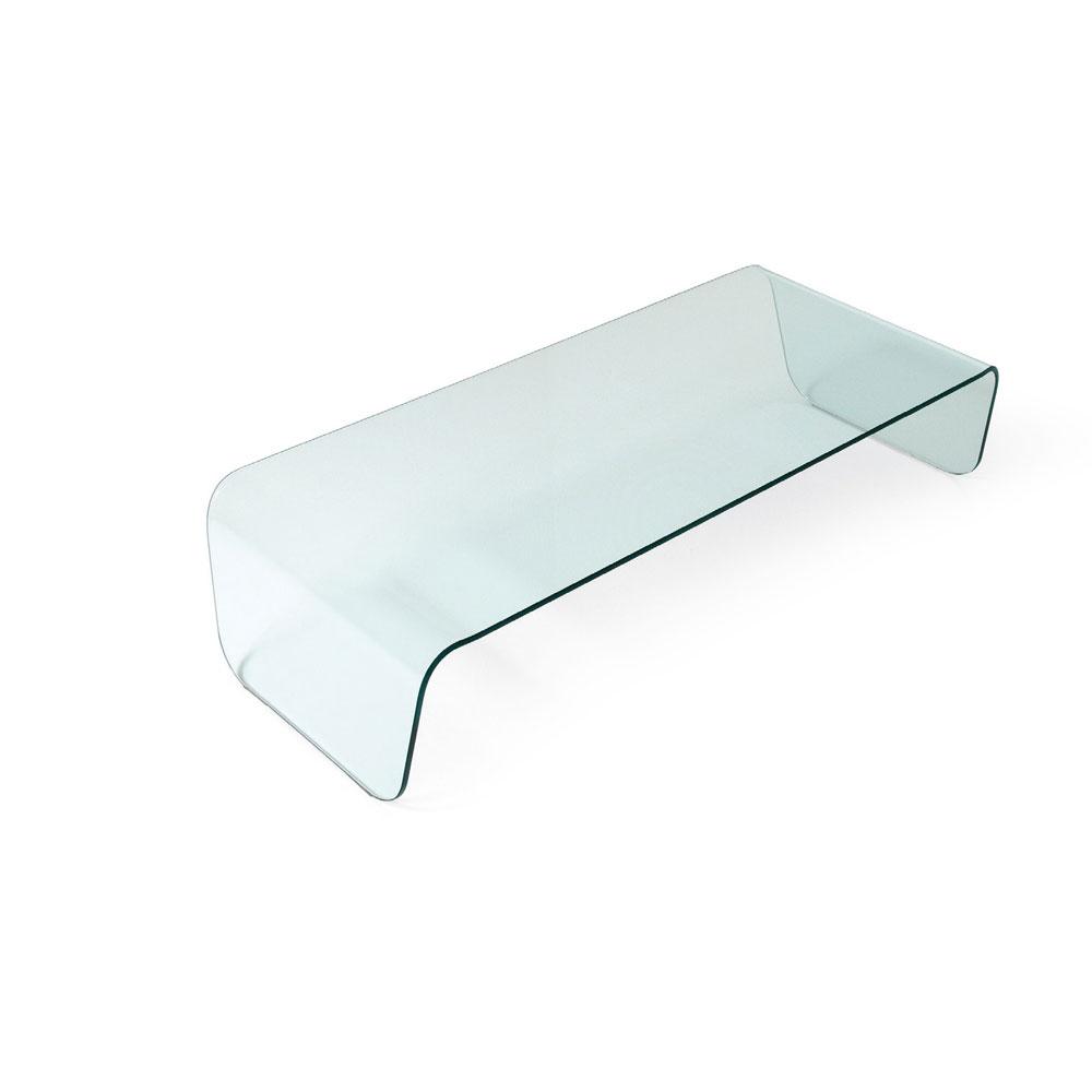 Tavolino in vetro curvato Glamour - Teypat