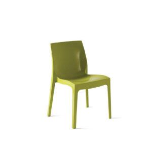 Sedia Click in polipropilene verde