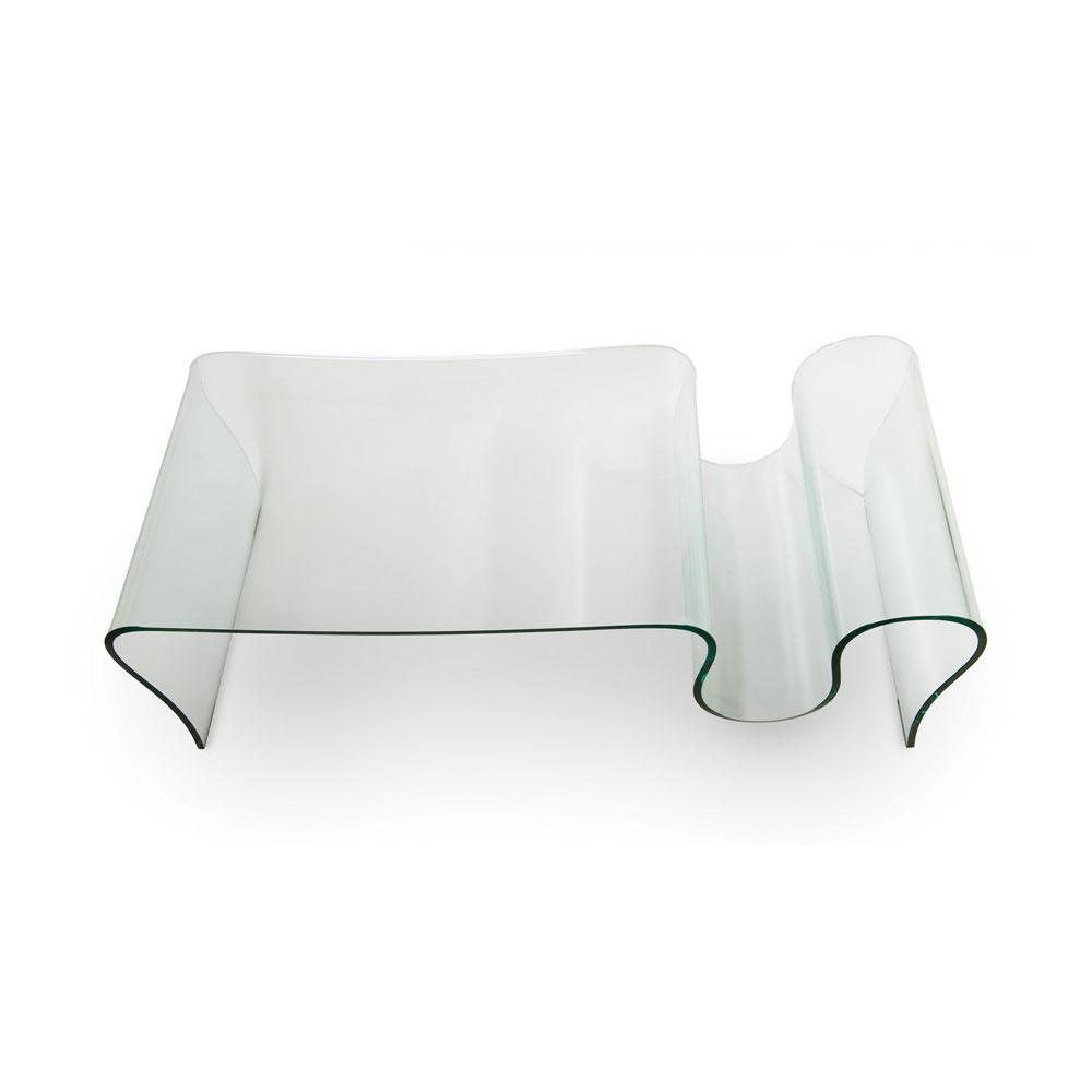 Tavolino in vetro curvato Deluxe - Teypat
