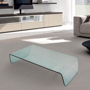 Tavolino in vetro curvato Glamour