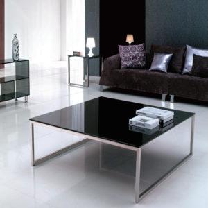 Tavolino in acciaio e vetro Home 01