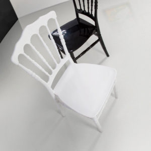 Sedia Napoleon in polipropilene colore bianco