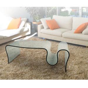 Tavolino in vetro curvato Deluxe 03
