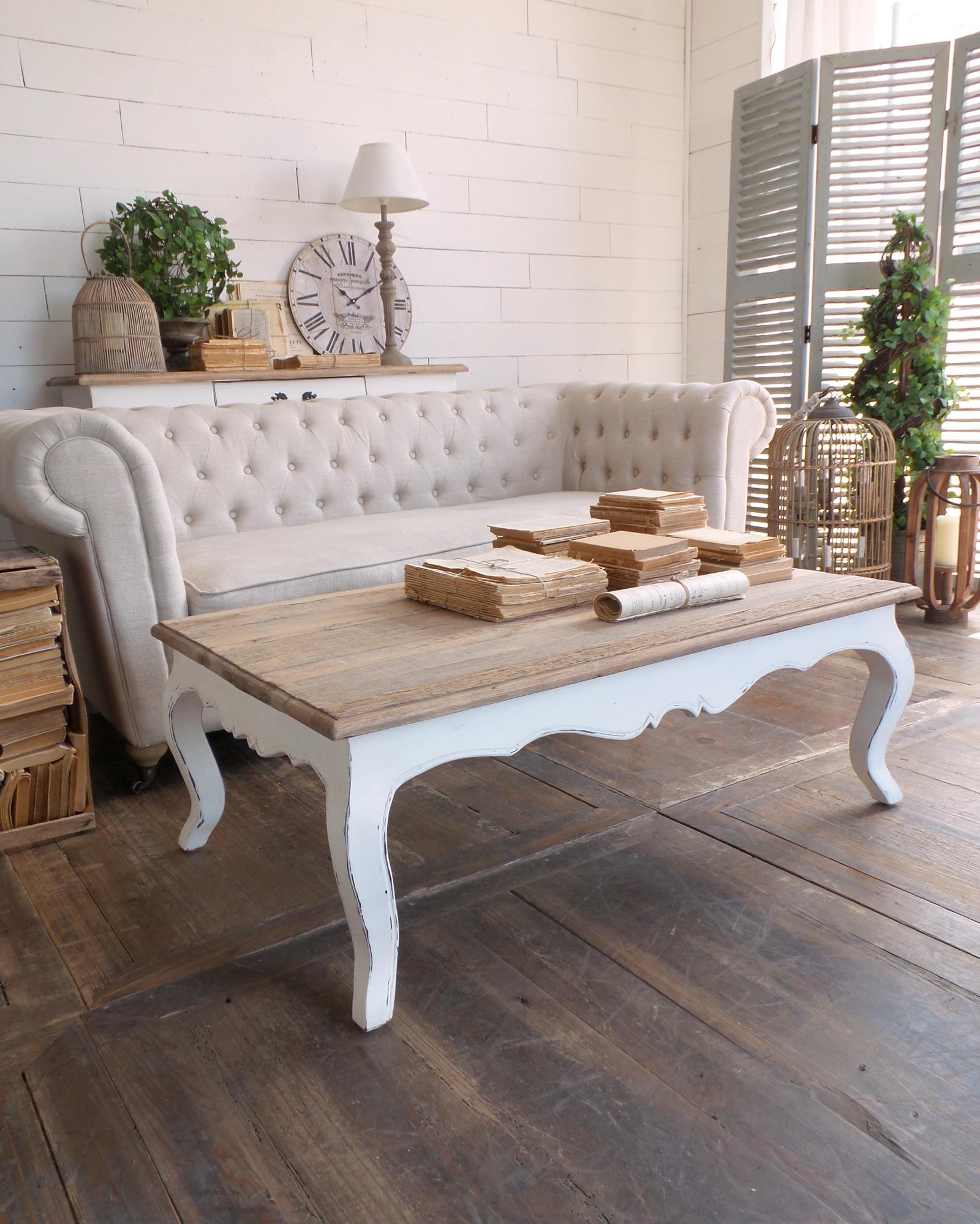 Tavolino da salotto vintage rettangolare dallo stile classico ed elegante - Mobili da salotto vintage ...