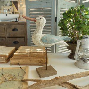 2 decorazioni in legno coastal