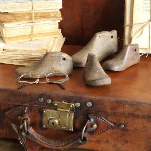 4 decorazioni legno shoes