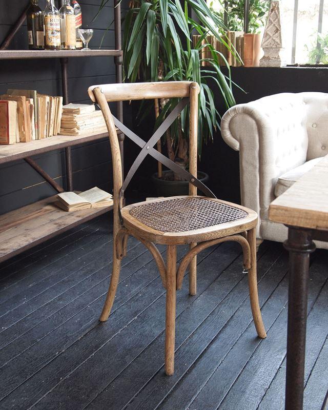 Sedie in legno vintage con schienale