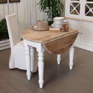 Tavolo consolle White Coast in legno massello