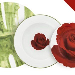 Set di Piatti 18 pezzi Collezione Villa Altachiara Rose