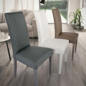 Sedia in legno Budapest colore grigio, beige, bianco e sabbia Teypat