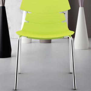 Sedia Barcellona in legno/metallo colore bianco, nero, grigio, verde Teypat