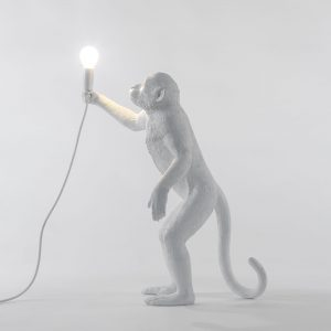 Lampada in resina Monkey Lamp Outdoor White Seletti