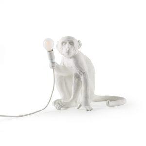 Lampada in resina Monkey Lamp Outdoor White