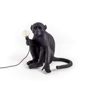 Lampada in resina Monkey Lamp Outdoor Black Seletti