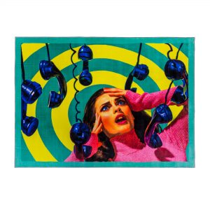 Tappeto rettangolare Telefoni Seletti