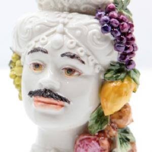 Testa di Moro Siciliana in Porcellana