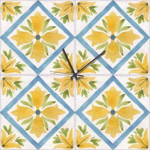 Stampa su Tela  Orologio Ceramica Siciliana 10622 misure 50×50