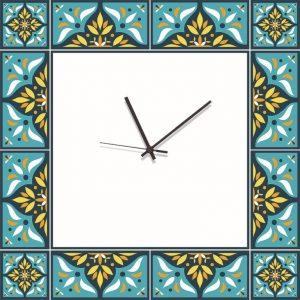 Stampa su Tela Orologio Ceramica Siciliana 10627 misure 50×50
